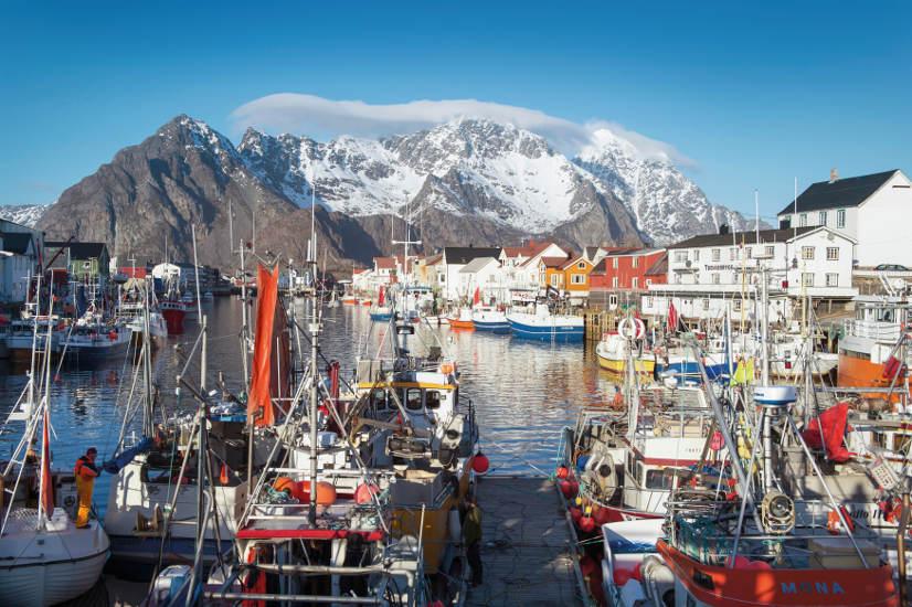 Las pesquerías de bacalao tienen lugar cada invierno en Lofoten. © J. Wildhagen/Norwegian Seafood Council
